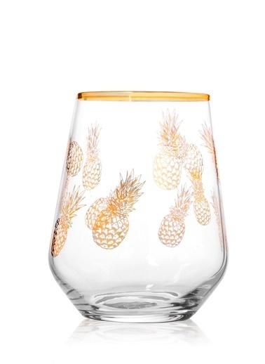 Rakle 425 cc Pineapple Meşrubat Bardağı Altın